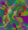 Colorful Paisley Pattern Clip Art