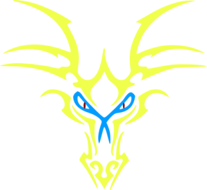 Yellow Dragon Icon Clip Art