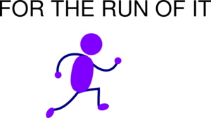 Purple Running Man Clip Art