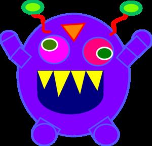 Blue Monster Clip Art at Clker.com - vector clip art online ...