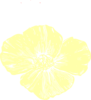 Pale Yellow Poppy Clip Art