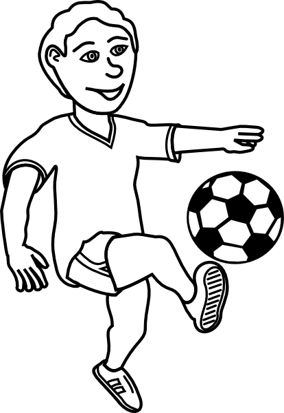 Soccer Player Outline Clip Art at Clker.com - vector clip ...