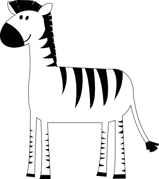 zebra outline drawing - photo #24