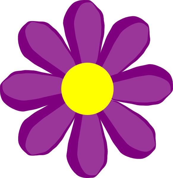 Purple Flower 10 Clip Art at Clker.com - vector clip art ...