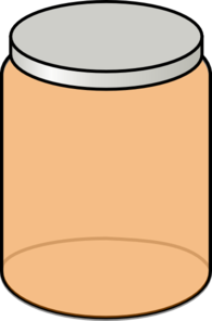 Orange Jar Clip Art