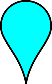Google Maps Icon - Baby Blue Clip Art