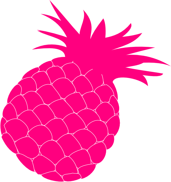 Hot Pink Pineapple Clip Art at Clker.com - vector clip art online ...