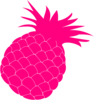 Hot Pink Pineapple Clip Art