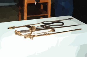 The Historic Worden Sword Rests On A Table With Its Belt And Scabbard Laid Out For Display. Clip Art
