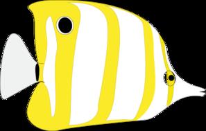 Yellow Tropical Fish Clip Art at Clker.com - vector clip art ...