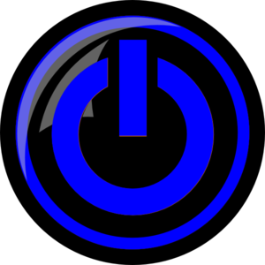 Blue Power Button Clip Art