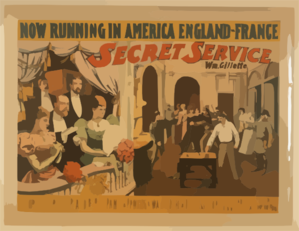 Secret Service By Wm. Gillette. Clip Art