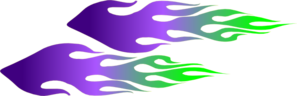 Flames Purple To Green Clip Art