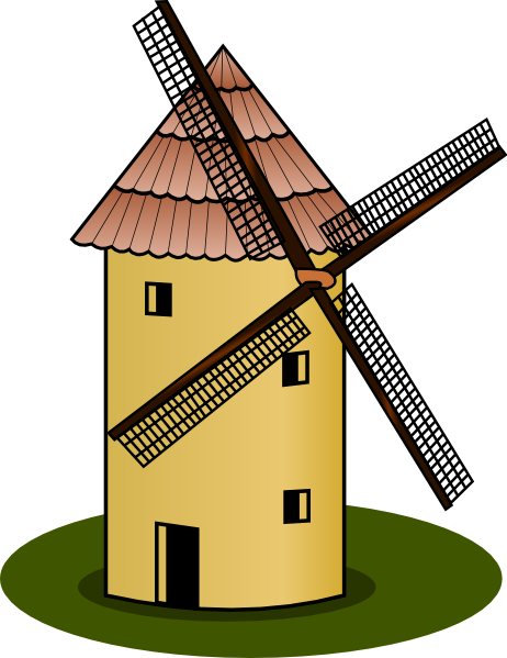 Farm Windmill Clip Art Windmill clip art - vector