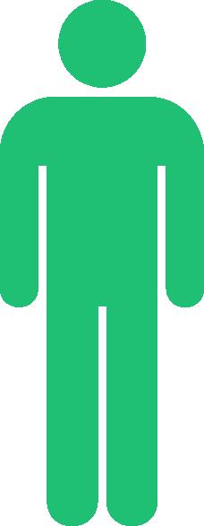 Green stick man clip art at clker com vector clip art online