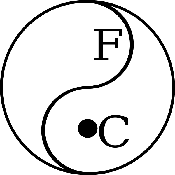 Yinyang Celcius Fahrenheit Clip Art At Clker Com
