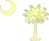 Palmetto Moon Off-white Clip Art