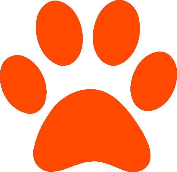 Orange Tiger Paw Print