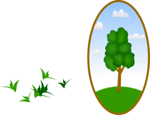 Oval Tree Landscape 2 Clip Art