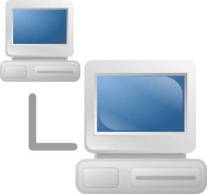 Networked Computers Clip Art