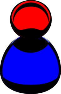 Red Blue Clip Art