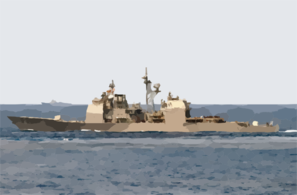 The Guided Missile Cruiser Uss Cowpens (cg 63) Clip Art