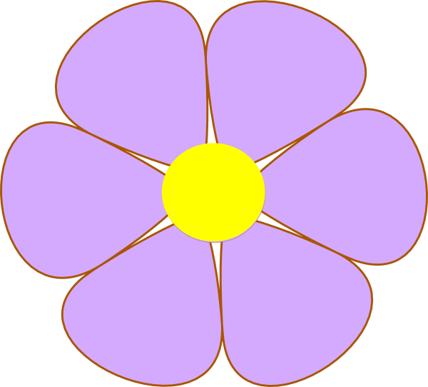 Purple Flower Clip Art at Clker.com - vector clip art ...