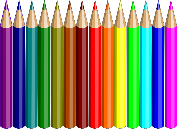 14 colored pencils clip art at clker com vector clip art online rh clker com colored pencils clipart colour pencils clipart black and white