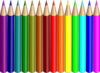 14 Colored Pencils Clip Art
