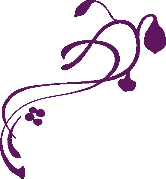 Darker Purple Swirl Clip Art at Clker.com - vector clip ...
