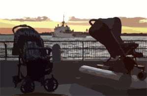 Baby Strollers Are Found Abandoned In Battery Park, Clip Art