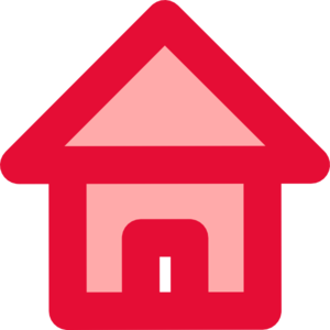 Red Home Icon Clip Art