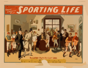 Cecil Raleigh & Seymour Hicks  Great English Play, Sporting Life Clip Art