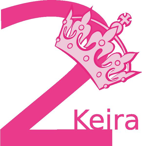 2nd Birthday Pink Tiara Keira Clip Art At Clker.com
