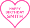 Smith Bday16 Clip Art