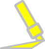 Highlighter Icon Gray Border Clip Art