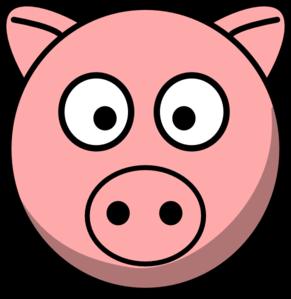 Pig simple. Head clip art at