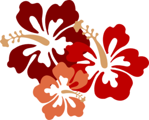Hibiscus Big Red Clip Art