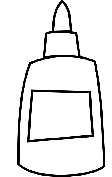 white glue bottle clip art at clkercom vector clip art