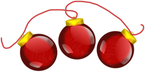 Red Baubles Clip Art