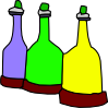 Cartoon Bottles Clip Art
