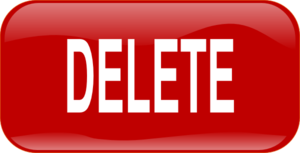Red Delete Rectangle Button Clip Art