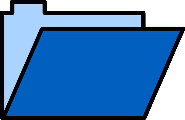 blue folder clip art at clker com vector clip art online royalty rh clker com folder clip art vector folder clipart download