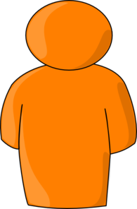 Personbuddysymbol-orange Clip Art