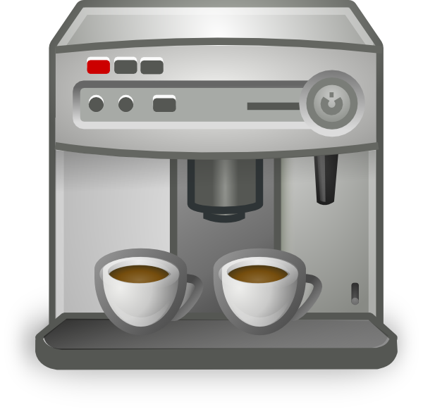 Clip Art Coffee Maker ~ Espresso coffee maker clip art at clker vector