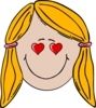 Lady Face (loving) Clip Art