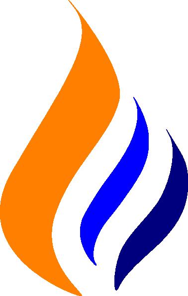 Vector Illustration Blue Fire Natural Gas