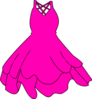 Hot Pink Dress Clip Art