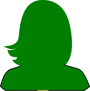 Green Woman Silhouette Clip Art