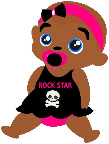 rock baby clip art at clker com vector clip art online royalty rh clker com black baby angel clipart black baby girl clipart